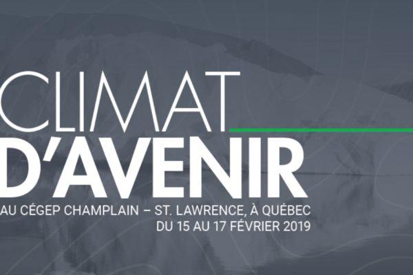 Conferencia inaugural «Clima del futuro» en la Escuela de invierno del Institut du Nouveau Monde