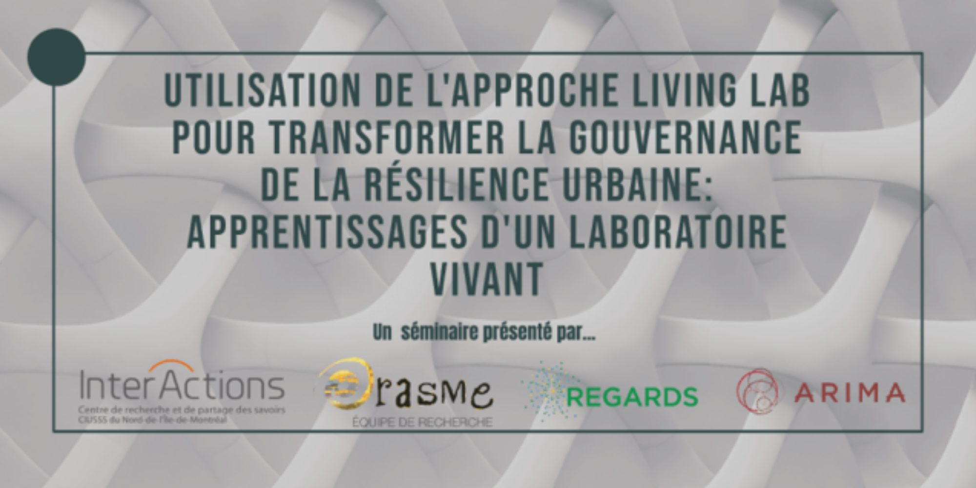 Living Lab Approach to Transforming Urban Resilience Governance: Learnings from a Living Lab